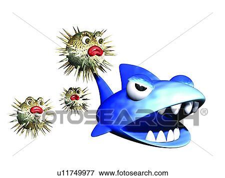 Immagine cartone animato animale squalo carino 3d - Animale cartone animato immagini gratis ...