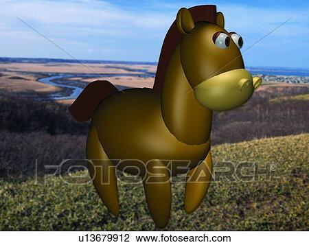 Archivio fotografico cavallo carino cartone animato - Animale cartone animato immagini gratis ...