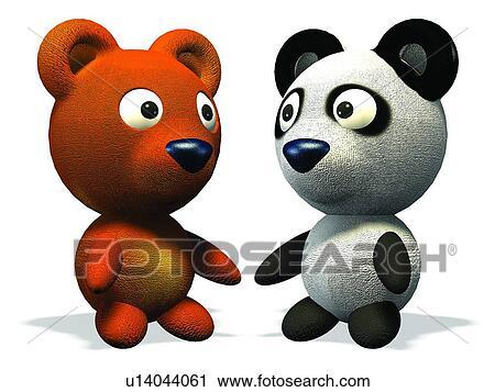 Archivio fotografico 3d orso cartone animato carino - Animale cartone animato immagini gratis ...