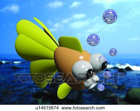 Archivio fotografico bolla mare animale cartone - Animale cartone animato immagini gratis ...