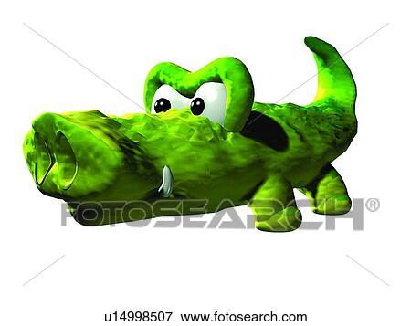Immagine 3d coccodrillo cartone animato carino - Animale cartone animato immagini gratis ...