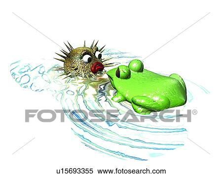 banque d 39 image 3d swellfish dessin anim mignon animal u15693355 recherchez des photos. Black Bedroom Furniture Sets. Home Design Ideas