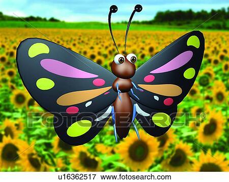Immagine 3d farfalla cartone animato carino animale - Animale cartone animato immagini gratis ...