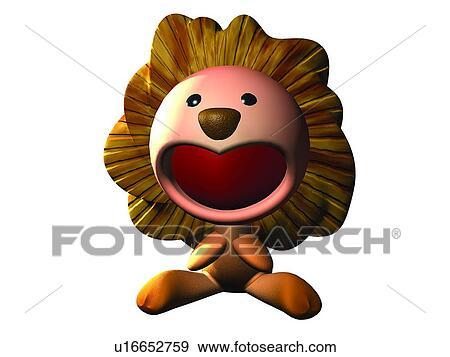 Archivio fotografico carino animale leone cartone - Animale cartone animato immagini gratis ...