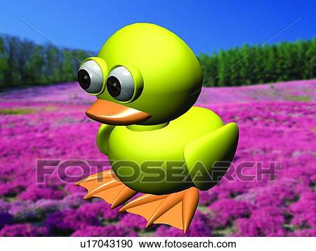 Archivio fotografico 3d giallo cartone animato carino - Animale cartone animato immagini gratis ...