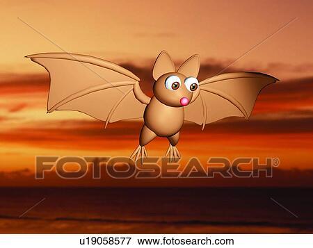 Immagine 3d pipistrello cartone animato carino - Animale cartone animato immagini gratis ...