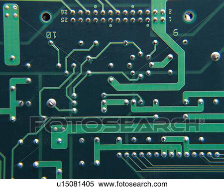 Stock Image of Close up of an integrated circuit board ...