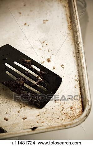 Stock Photo Of Detail Of A Dirty Spatula On A Dirty Cookie