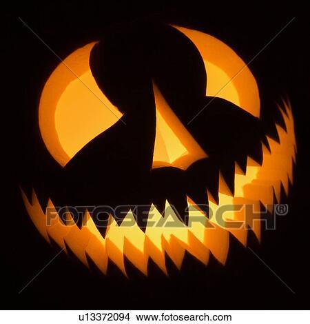 Archivio Fotografico Intagliato Halloween Zucca