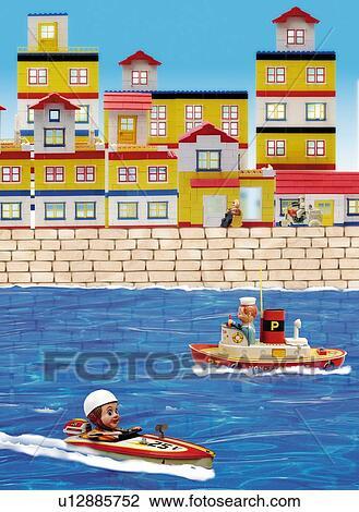 卡通玩具四视图