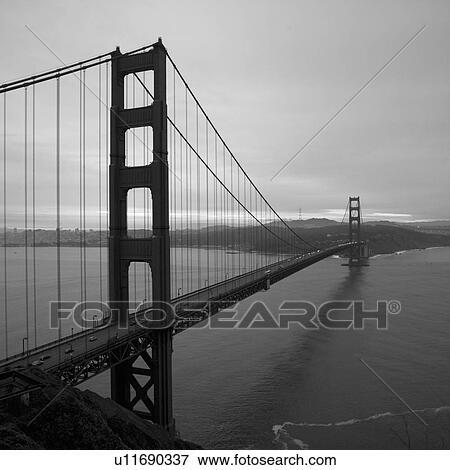 Picture Of Golden Gate Bridge Black And White U11690337