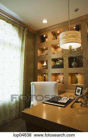 Pictures Of Cozy Home Office With Large Wood Desk Lop04638