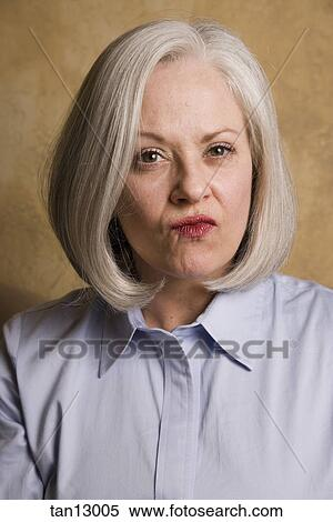 Portrait of young adult woman with health skin of face - csp7592216