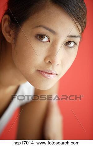 stock foto asiatische frau gesicht hcp17014 suche. Black Bedroom Furniture Sets. Home Design Ideas