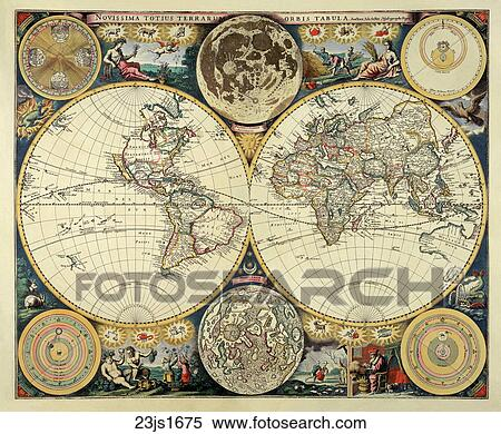 Stock illustration of world maps antique maps 1680 1520 antique world maps antique maps 1680 1520 antique gumiabroncs Images