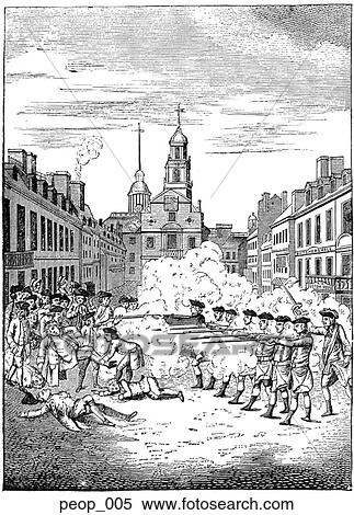 Stock Illustration of The Boston Massacre (from an engraving by ...