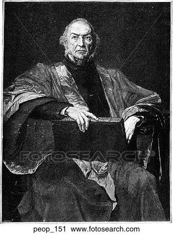Clipart of Portrait - W.E. Gladstone - 44.5KB