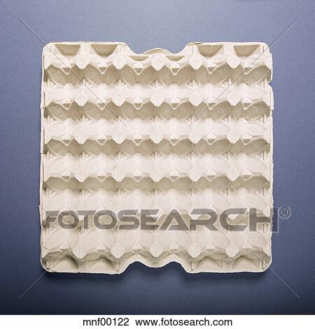 Stock Photo of Empty egg carton, elevated view mnf00122 ...