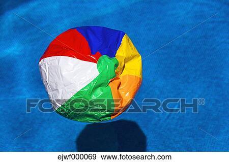 Stock photograph of austria linz broken beach ball for Broken swimming pool