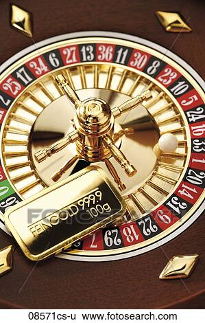 stock images of gold bar on roulette wheel elevated view 08571cs u search stock photography. Black Bedroom Furniture Sets. Home Design Ideas