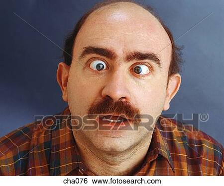 Stock Images of Cross-Eyed Man cha076 - Search Stock ...