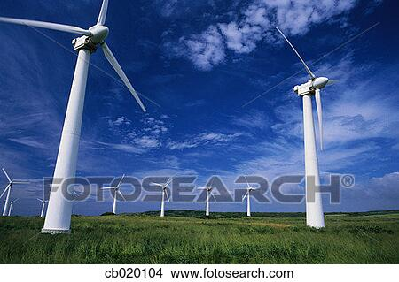 Stock Photo - Windmills Used to Generate Electricity. Fotosearch ...