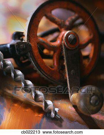 Stockfoto   gammeldags, hånd bor cb022213   søg i stockmotiver ...