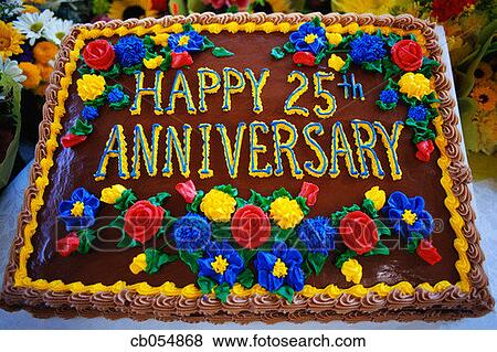 Pictures of Happy 25th Anniversary Cake cb054868 - Search Stock Photos ...