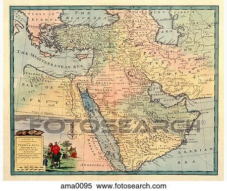 - 中东的地图