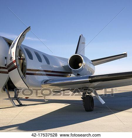 Pictures Of Private Jet On Tarmac 4217537528  Search Stock Photos Images