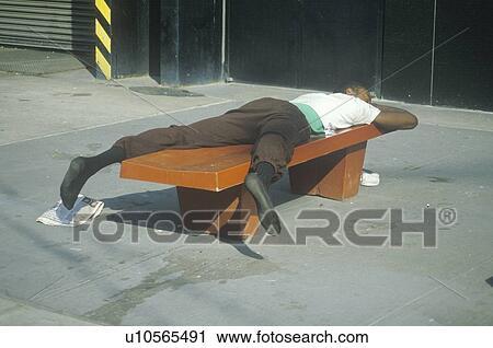 Homeless Black Man Clipart Homeless black man sleeping on