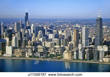 Picture of The Chicago Skyline, Chicago, Illinois u11556197 ...