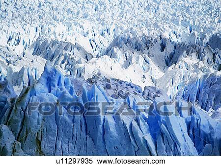 Stock Image Of Pietro Moreno Glacier In Argentina