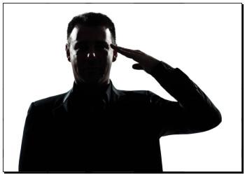 侧面影象, 人, 肖像, 军队, 敬礼 k10276796 帆布画 壁画 艺术海报