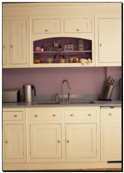 Print of cream fitted units in mauve kitchen u12359198 for Mauve kitchen walls