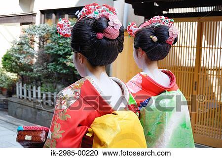 Banques De Photographies Geisha Dans Kimono A Elegant
