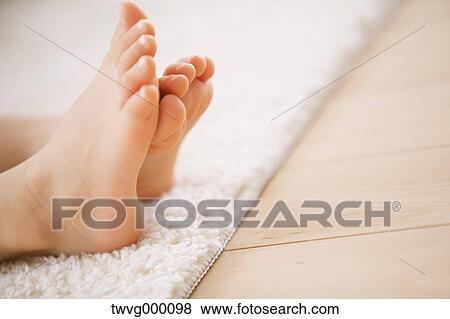 Girl feet close up