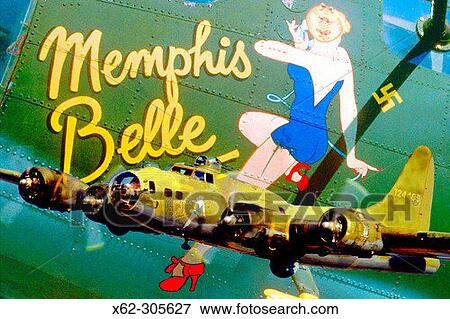Picture - B-17 Flying Fortress ´Memphis Belle´. Fotosearch - Search Stock Photography, Photos, Prints, Images, and Photo Clipart