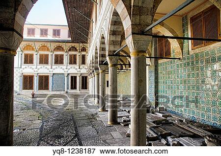 Stock Photo Courtyard Of The Apartments Queen Mother Harem And