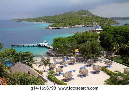 Stock Photo Of Cura Ao Netherlands Antilles Dutch Piscadera Bay