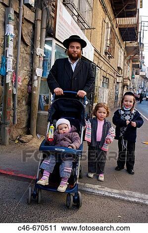 Ebrei ortodossi, mea, shearim, quarto, gerusalemme, israele Archivio  Immagini