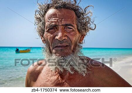 Fisherman Shouab Beach Qalansiyah Socotra Island Listed As World Heritage By Unesco Aden Governorate Yemen Arabia West Asia Picture Zb4 1750374 Fotosearch