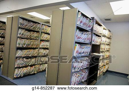 Florida, Miami Beach, Mount Mt  Sinai Medical Center, hospital, medical  records, filing, cabinets, folders, patient information, privacy,