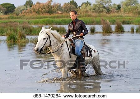 1fcb15b19aa Stock Photo of Guardian riding horse