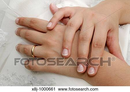 Stock Photography Of Hands Marriage Newlyweds Wedding Ring Ring