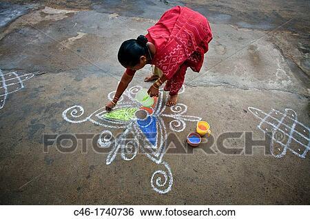 Stock Bilder Kolam Refers To Dekorativ Kunstwerk Gezeichnet