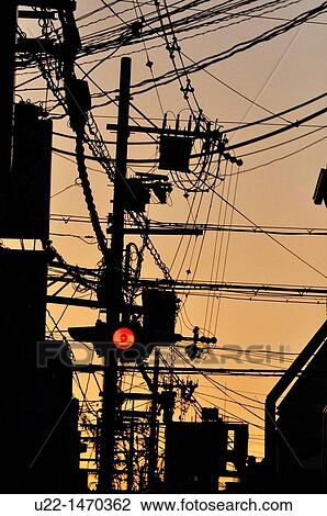 Remarkable Stock Photo Of Kyoto Japan Electric Wires Mess In The City Centre Wiring 101 Israstreekradiomeanderfmnl