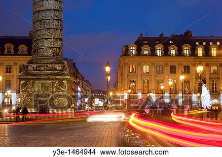 Christmas Paris France.Place Vendome During Christmas Time Paris France Picture