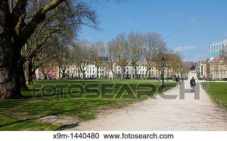Stock Photography Of Queen Square Bristol Is A 2 4