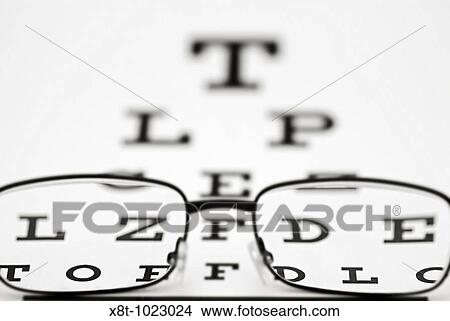 Stock Photo Of Snellen Eye Chart And Glasses X8t 1023024 Search